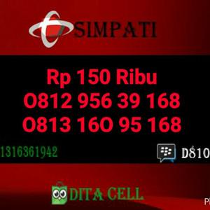 ... Jual Nomor Cantik Simpati Seri Ilufa Hoki 168 0812 956 39 168 Super HOKI