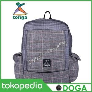 Jual Tas Ransel Backpack Tonga Abu Wol Kotak 31WK002 - Doga