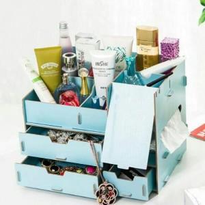 Rak Kosmetik Kaca Tempat Penyimpanan Makeup Rak Kosmetik Multifungs Tokopedia