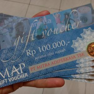 Jual Voucher MAP Nominal 100 rb Tanpa Expired Date - Gift Voucher 100.000