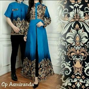Baju Muslim Batik Couple Asmaranda Tokopedia
