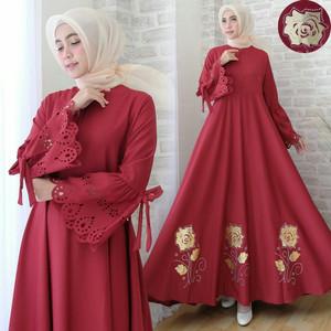 Katalog Harga Baju Syari Warna Merah Maroon Terbaru Dan Termurah
