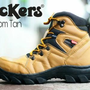 Jual Sepatu boot proyek safety kickers pria ujung besi kulit asli grade ori fd05568837