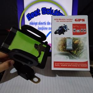 Universal Mount Holder Bracket Dudukan Hp Gps Pada Spion Motor Tokopedia