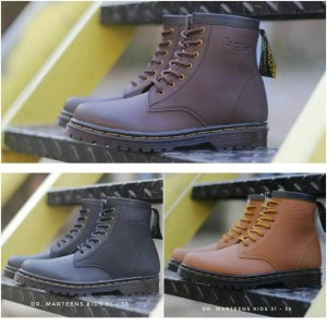 Sepatu Boots Dr Martens Anak Warna Tan Tokopedia