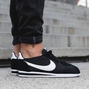 Jual Nike Air Cortez Nylon Vintage Black White Sneakers Sepatu Pria PREMIUM