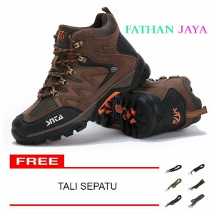 Sepatu Gunung Snta 469 Brown Orange Tokopedia