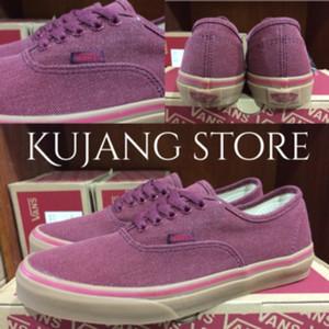Jual Sepatu vans authentic washed canvas maroon gum ori premium BNIB