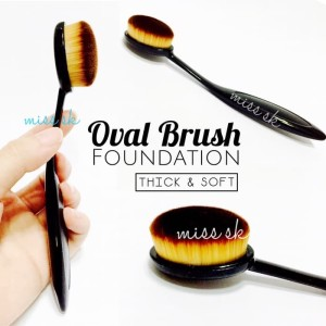 Sale Oval Foundation Face Brush Make Up Kosmetik Face Foundation Tokopedia