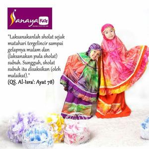 Mukena Couple Ibu dan Anak Rayon by Sanaya Kids (S/M/L)