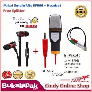 Paket Mic Smule Professional Condenser Studio Microphone Smartphone Smule Recording Tokopedia