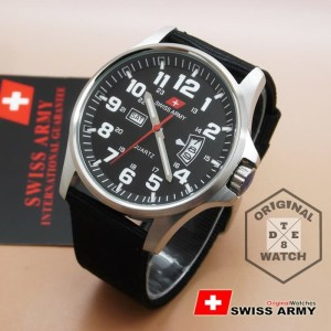 Original Swiss Army 2855m White Canvas 1 Year Guaranted Dte 8 Tokopedia