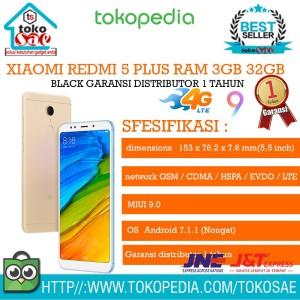 Xiomi Redmi 5 Ram 3gb Rom 32gb Segel Tam Tokopedia