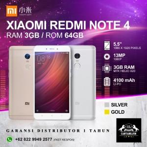 Redmi Note 4 Gold 3 64gb Tokopedia