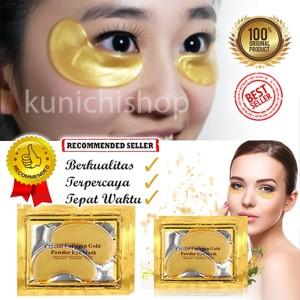 Jual [10 pcs]Masker Kantung Mata Emas- Crystal Collagen Gold - Eye Mask
