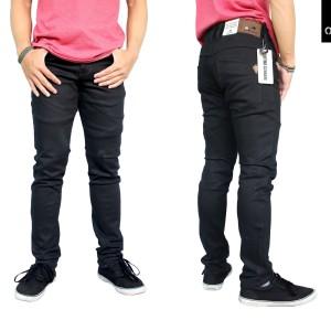 Celana Jeans Hitam Pekat Naomi Anti Luntur Tokopedia