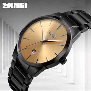 Jual Jam tangan pria skmei rantai hitam original water proof Anti air 7d23a895b7