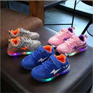 Sepatu Anak Lampu Led Sz 27 31 Sepatu Sekolah Anak Cewek Cowok Sepatu Anak Laki Laki Perempuan Doreng Tentara Tokopedia