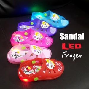 Sepatu Anak Perempuan Soft Gel Wedges Frozen Tokopedia
