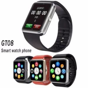 Jam Tangan Hp Smartwatch Gt 08 Gsm Sim Card Black Black Tokopedia