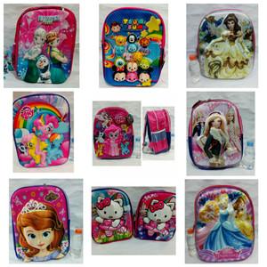 Perempuan - Tas Sekolah Anak Karakter Bagus / Tas Ransel 3D Backpack