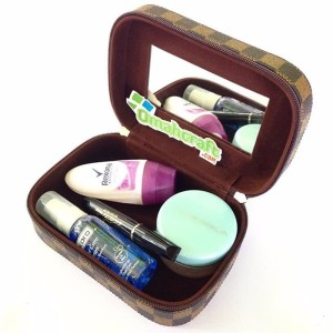 Tas Kosmetik Mini Motif Damier Mini Cosmetic Case Tempat Make Up Tokopedia