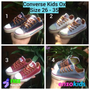 Sepatu Anak Converse Kids 26 30 Sepatu Sekolah Anak Tokopedia