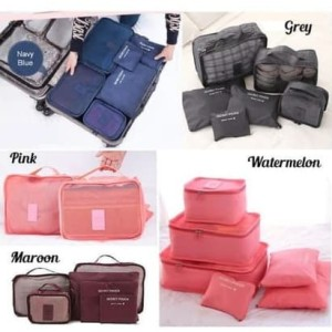 New Korean Travel Bag Organizer Tas Kosmetik Praktis Dan Berkualitas Tokopedia