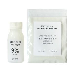 KOREAN BLEACH POWDER 50 gr + developer 100 ml bubuk bleach korea