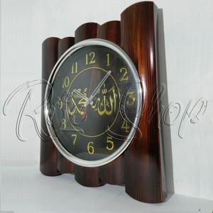 Jam Dinding Kaligrafi Motif Bambbu Tokopedia
