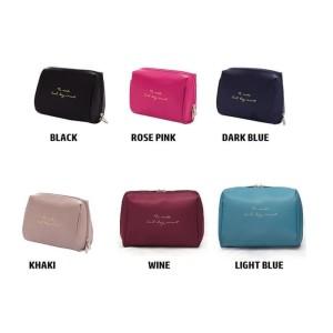Tas Penyimpanan Kosmetik Plain Make Up Cosmetic Purse Pouch Bag Tokopedia