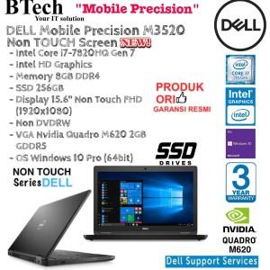 Dell Precision M3520 Win10pro 8gb 256gb Ssd Nv Quadro M620 Tokopedia
