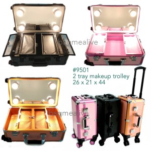 Koper Makeup Beauty Case Makeup Kotak Rias Tas Kosmetik Box Tingkat Tokopedia