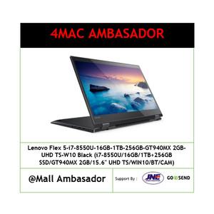 Lenovo Flex 5 I7 8550u 16gb 1tb 256gb Gt940mx 2gb Uhd Ts W10 Black Tokopedia
