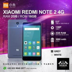 Xiaomi Redmi Note 4g 2 8 Gb Tokopedia