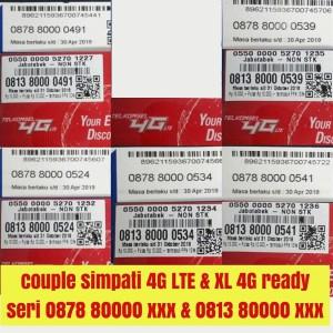 Jual nomor cantik simpati XL 4G telkomsel couple pasangan kartu perdana