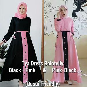 Baju Muslim Tya Dress Gamis Muslim Gamis Remaja Tokopedia