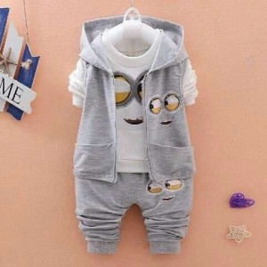 Baju Anak Minion 3in1 Tokopedia