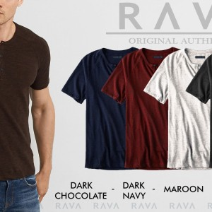 Baju Kaos Pria Raglan Henley Oblong By Rava Original Best Seller Tokopedia