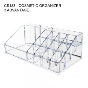 Promo Acrylic Cosmetic Organizer Rak Tempat Kosmetik 4 Drawer Cs183 Tokopedia