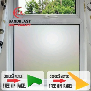 Stiker Kaca Stiker Kaca Sandblast Motif Bunga Hp Tokopedia