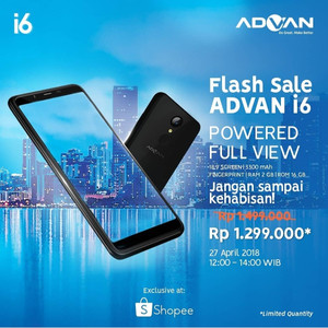 Advan I6 New Full View Screen Lte 4g Tokopedia