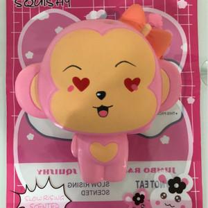 Squishy Pink Monkey Monyet Lucu Love Cute Slow Murah Mainan anak wangi