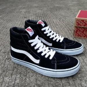Jual sepatu pria Vans sk8 BW black white waffle ifc sepatu g Paling Laris f31f3fe989
