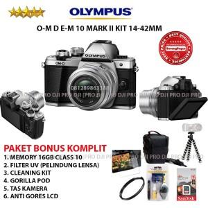 Olympus Om D E M10 Mark Ii Kit 14 42mm Ez With 40 150mm R Tokopedia