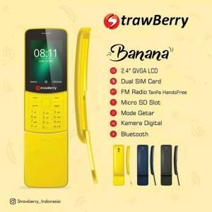 Unik Hp Model Pisang Strawberry St3 Banana Tokopedia