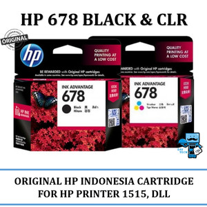 Hp 678 Black Original Tokopedia
