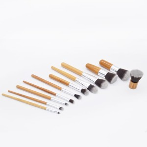Bamboo Makeup Brush 11pcs Set Cosmetic Brush 11pcs Kuas Kosmetik Tokopedia