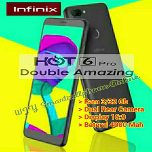 Infinix Hot 6 Pro Ram 3gb Inetrenal 32gb Tokopedia