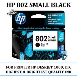 Tinta Hp 802 Black Small Tokopedia